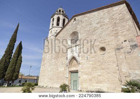 Banyoles,spain-march 20,2017:religious Building, Benedictine Monastery Of St.esteve, Banyoles,catalo