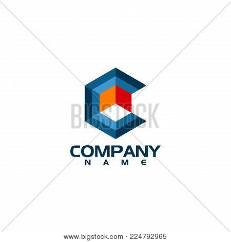 Hexagon - C hexagon Vector logo concept illustration. Hexagon geometric polygonal logo. Hexagon abstract logo. Vector logo template. Design element. C letter style