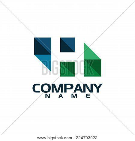 letter H logo design vector illustration template, letter H logo vector, creative Letter H letter logo