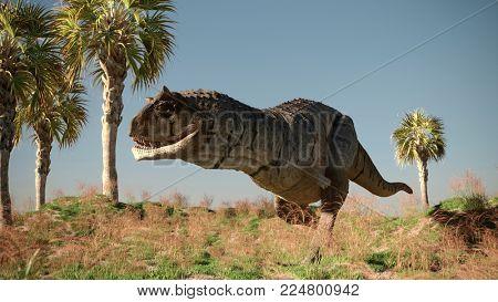 3d render of the carnotaurus dinosaur
