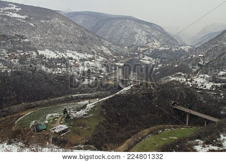 natural landscape in the outskirts of Sarajevo, Bosnia and Herzegovina