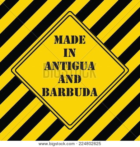 The industrial symbol is made in Antigua and Barbuda