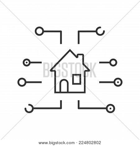 Homepage linear icon. Thin line illustration. Browser button. Start page. Contour symbol. Vector isolated outline drawing