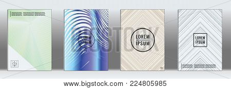 Dynamic geometric layout.  Vector trendy line pattern for poster brochure.  Set of templates for business brochures.  2d prints for banner background.  Business identity design.
