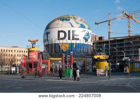 Berlin, Germany - January 2018: Hot air balloon