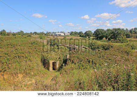 German World War Two Field Gun And Bunker