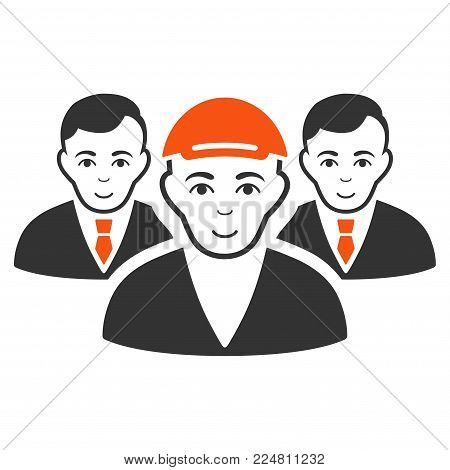 Team vector flat icon. Person face has joy sentiment. A boy in a cap.