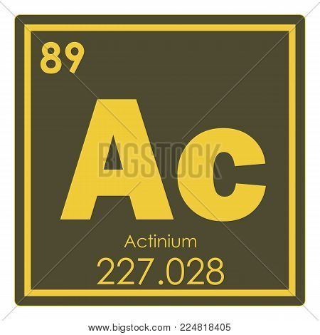 Actinium Chemical Element Periodic Table Science Symbol