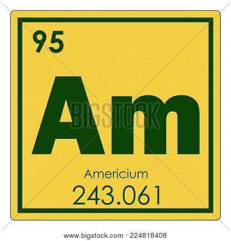 Americium Chemical Element Periodic Table Science Symbol