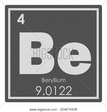 Beryllium chemical element periodic table science symbol