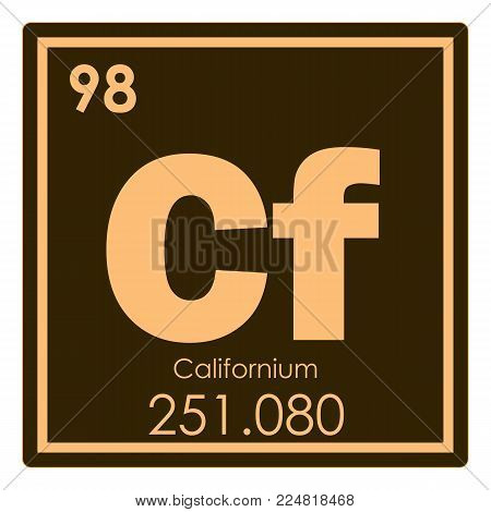 Californium chemical element periodic table science symbol