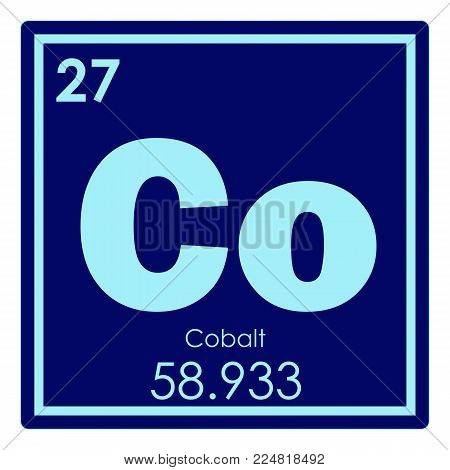 Cobalt chemical element periodic table science symbol
