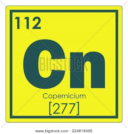 Copernicium chemical element periodic table science symbol