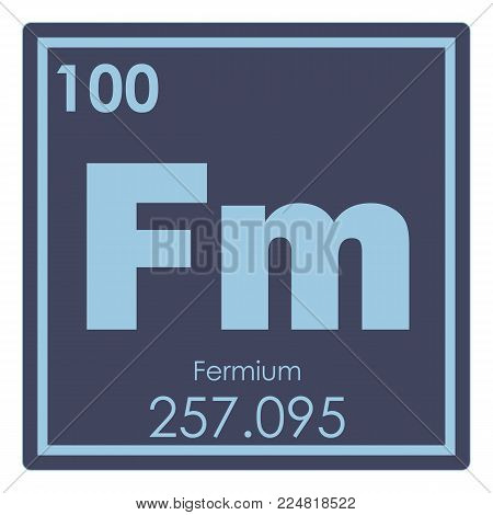 Fermium chemical element periodic table science symbol