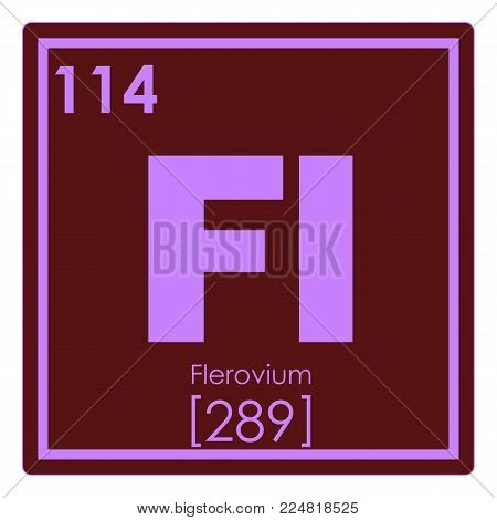 Flerovium chemical element periodic table science symbol