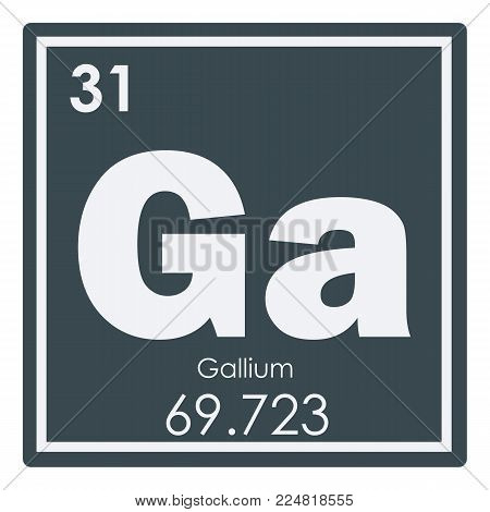 Gallium chemical element periodic table science symbol