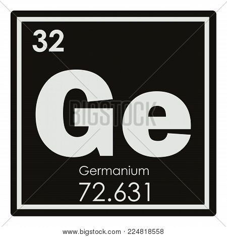 Germanium chemical element periodic table science symbol