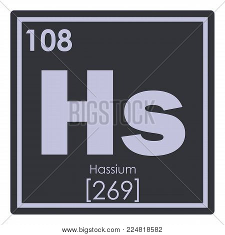 Hassium chemical element periodic table science symbol