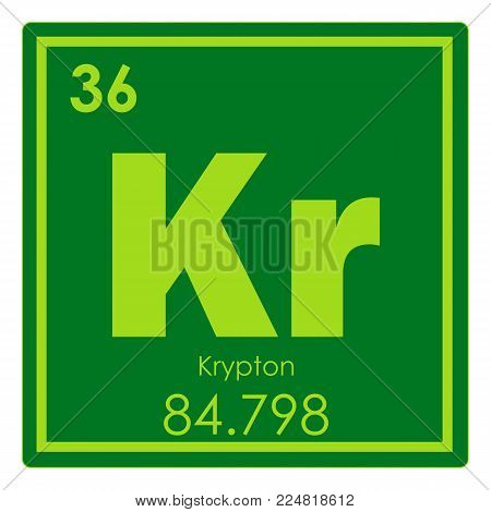 Krypton chemical element periodic table science symbol