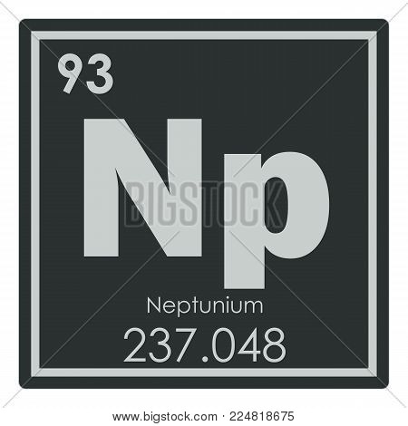 Neptunium chemical element periodic table science symbol