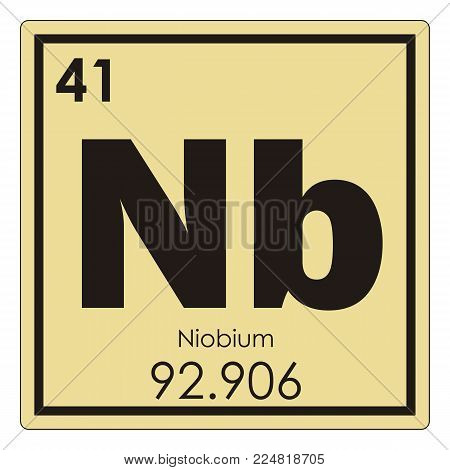 Niobium chemical element periodic table science symbol