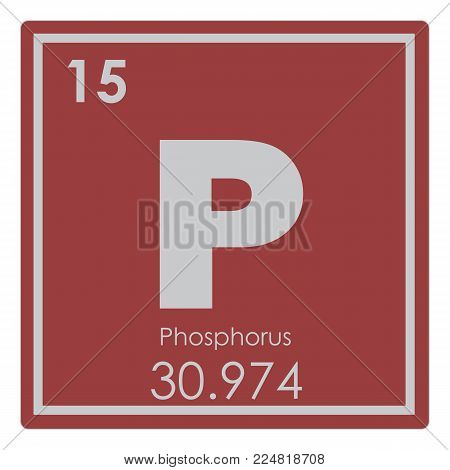 Phosphorus chemical element periodic table science symbol