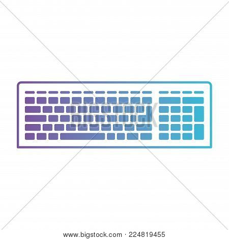 computer keyboard tech pc device electronic office key button vector illustration