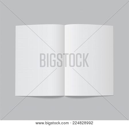 Folded white paper sheet - stock vector.