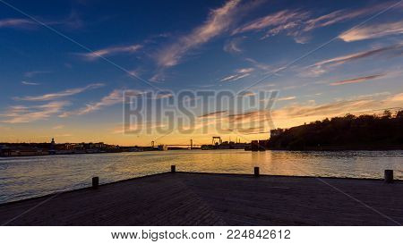 Setting sun gothenburg,Sweden 2017. Waiting for summer