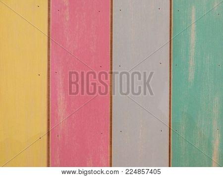 Colorful wall panel