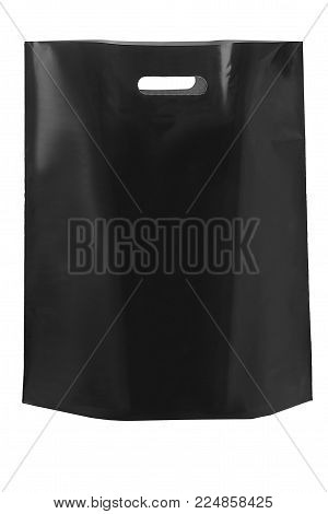Dark Gray Polypropylene Bag With A Handle With A Handle On A Whi