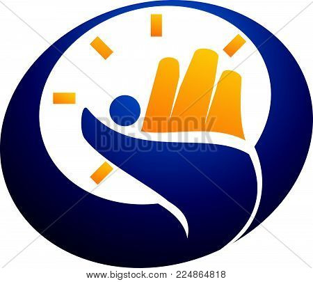 Success Time Management Logo Design Template Vector