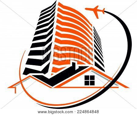 Accommodation Business Trip Logo Design Template Vector