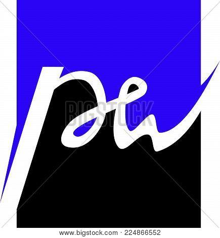 Letter P W Logo Design Template Vector