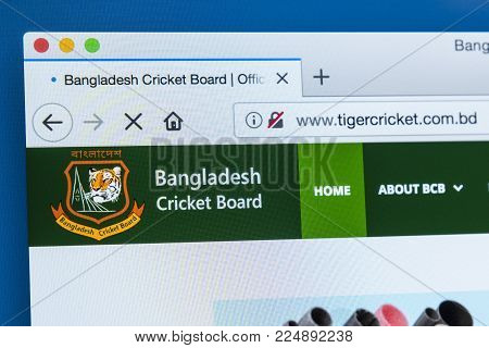 London, Uk - December 4th 2017: The Homepage Of The Official Website For The Bangladesh Cricket Boar