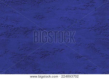 Navy blue seamless stone texture venetian plaster style background pattern. Traditional venetian plaster stone texture grain drawing. Stone rock dark blue grunge texture interior decoration element. Seamless grunge stone texture