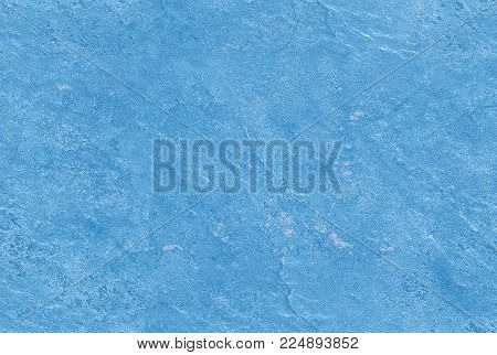 Winter water blue seamless venetian plaster background stone texture. Traditional venetian plaster stone texture grain pattern drawing. Blue grunge texture. Winter seamless stone texture background. Crystal clear water color texture background