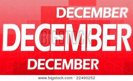 poster of Creative image of December concept against a red background