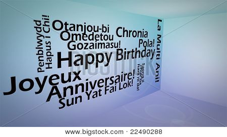 poster of Creative image of international happy birthday concept