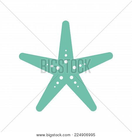 Starfish icon isolated on white background. Sea star. Vector stock.