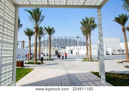 Abu Dhabi, United Arab Emirates - January 26, 2018: Louvre Abu D