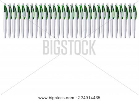 A Fence Of A Lot Of Pens. Texture With Space For Typing The Text