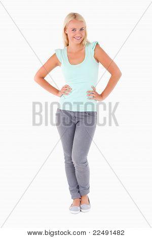 Portrait Of A Cute Woman Posing