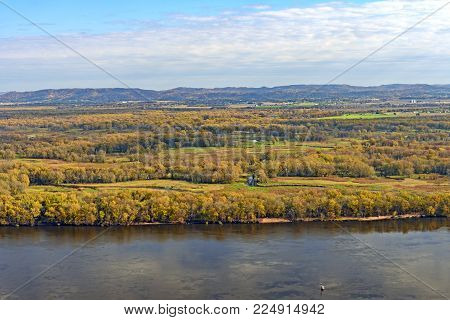 Great River Wetland in the Fall on the Black River Mississippi River Conflux in Wisconsin