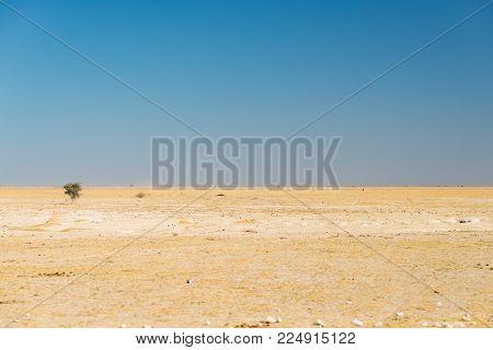 Kalahari Desert, Salt Flat, No Where, Empty Plain, Clear Sky, Road Trip In Botswana, Travel Destinat