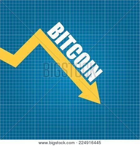 Vector bitcoin market vector photo free trial bigstock vector bitcoin market crash graph on blueprint background bitcoin hype concept vector illusrtation with blank malvernweather Gallery