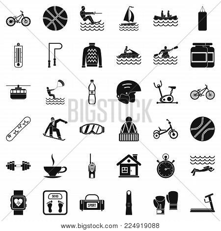 Public health icons set. Simple set of 36 public health vector icons for web isolated on white background