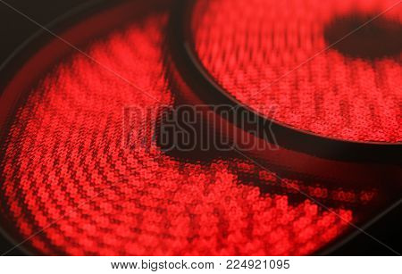 Red Hot Ceramic Hotplate Of Electric Cooker