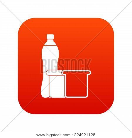Food icon digital red for any design isolated on white vector illustration