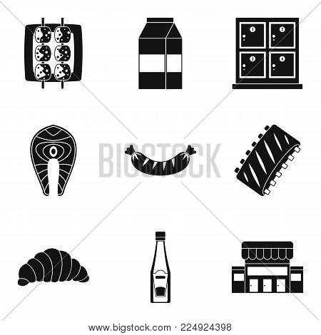 Dine icons set. Simple set of 9 dine vector icons for web isolated on white background